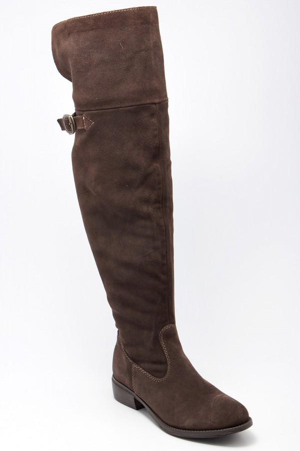 9019b362e23a 1/1-26811/21-304, Сапоги женские Tamaris, цвет темно-коричневый ...
